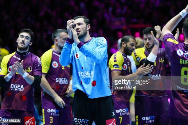 Cyril Dumoulin of Nantes during the Lidl Starligue match between Nantes and Paris Saint Germain PSG on December 7 2017 in Nantes France