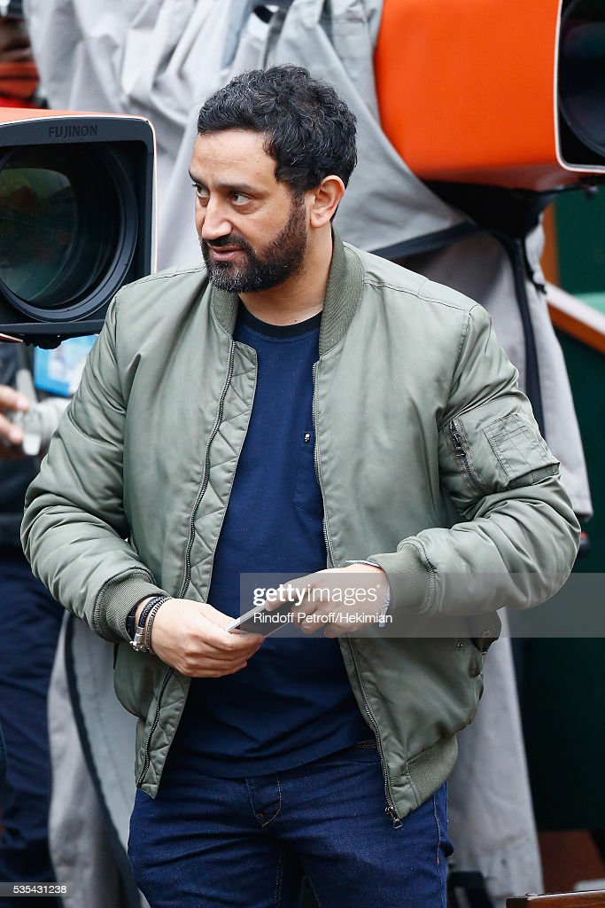 Cyril Hanouna attends the French Tennis Open Day 8 at Roland Garros on May 29, 2016 in Paris, France.