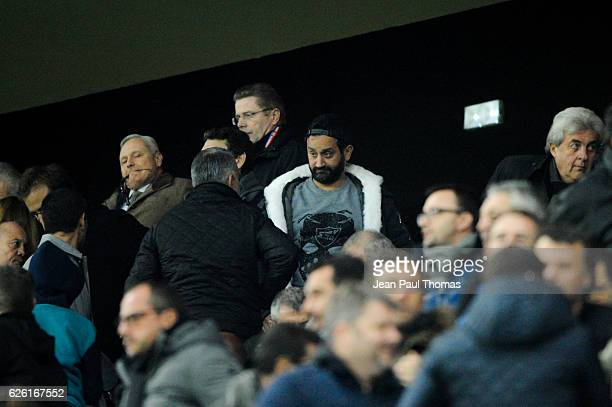 Cyril Hanouna during the French Ligue 1 match between Lyon and Paris Saint Germain at Stade de Gerland on November 27 2016 in Lyon France