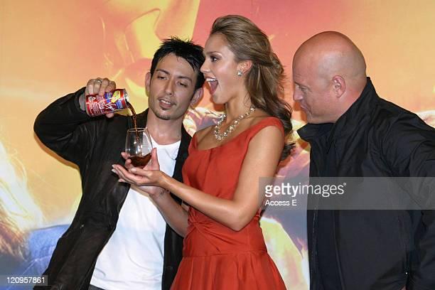 Cyril Jessica Alba and Michael Chiklis during 'Fantastic Four' Tokyo Premiere at Virgin Cinemas Roppongi in Tokyo Japan