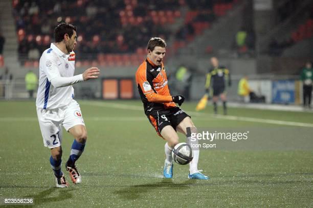Cyril JEUNECHAMP / Kevin GAMEIRO Lorient / Montpellier 19eme journee de Ligue 1