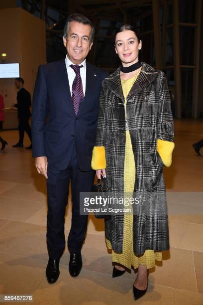 Cyril Karaoglan and Aurelie Dupont attend 'Etre Moderne Le MoMA A Paris' Exhibition at Fondation Louis Vuitton on October 9 2017 in Paris France