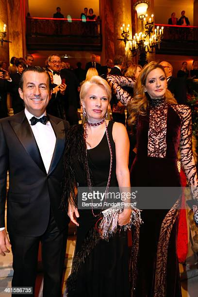 Cyril Karaoglan Irina Abramovich and President of the Gala Ulla Parker attend Arop Charity Gala with 'Ballet du Theatre Bolchoi' held at Opera...
