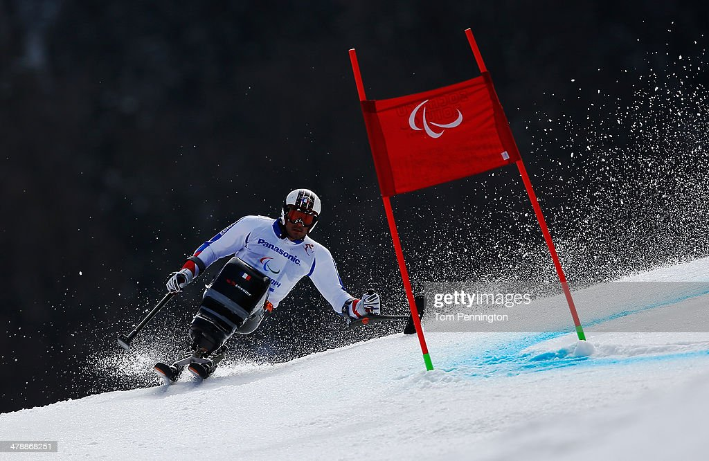 Cyril More of France competes in the Men's Giant Slalom Sitting during day eight of the Sochi 2014 Paralympic Winter Games at Rosa Khutor Alpine Center on March 15, 2014 in Sochi, Russia.