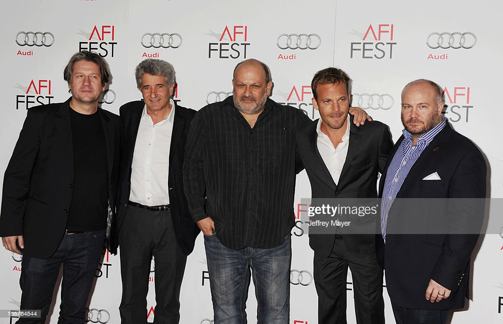 Cyril Morin, Frederick A. Ritzenberg, Eran Riklis, Stephen Dorff and Gareth Unwin arrive at the 'Zaytoun' special screening during AFI Fest 2012 at Grauman's Chinese Theatre on November 7, 2012 in Hollywood, California.
