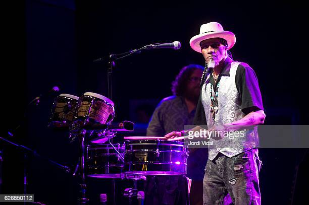 Cyril Neville of Royal Southern Brotherhood performs on stage during Festival Internacional de Jazz de Barcelona at Luz de Gas on November 30 2016 in...