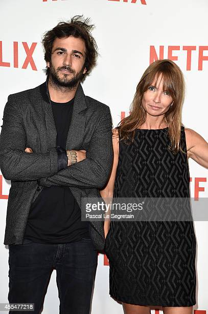 Cyril Paglino and Axelle Laffont attend the 'Netflix' Launch Party at Le Faust on September 15 2014 in Paris France