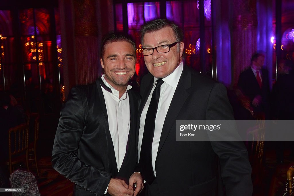 Cyril Peret from DTMBooker and Dominique Gallas attend the 'Don't Tell My Booker' Supports La Croix Rouge Dinner - PFW F/W 2013 at the Hotel Intercontinental on March 2nd, 2013 in Paris, France.