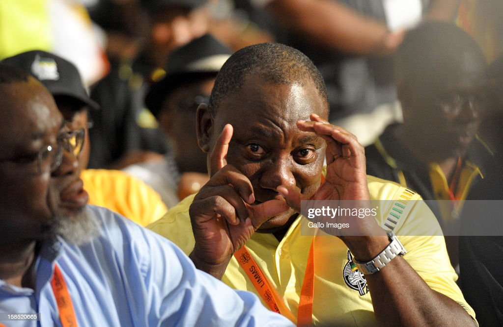 Cyril Ramaphosa at the ANC Mangaung elective conference at the University of Free State on December 17, 2012, in Bloemfontein, South Africa.