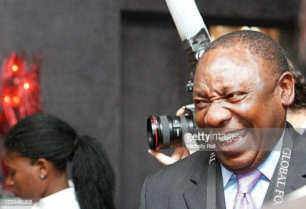 Cyril Ramaphosa Chairman Shanduka Group attends the TIME/FORTUNE/CNN Global Forum at the Cape Town International Convention Centre on June 26 2010 in...
