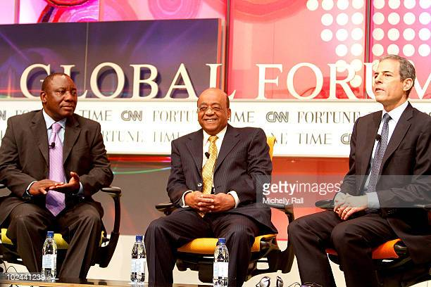 Cyril Ramaphosa Founder and Executive Chairman Shanduka Group Mo Ibrahim Founder of the Mo Ibrahim Foundation and Richard Stengel Managing Editor...