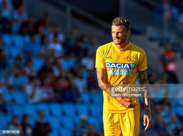 Cyril Thereau of Udinese Calcio looks on during the Pre Season Friendly match between Celta de Vigo and Udinese Calcio at Balaidos Stadium on August...