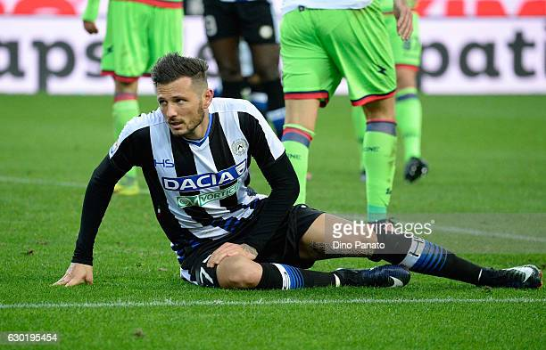Cyril Thereau of Udinese Calcio looks on during the Serie A match between Udinese Calcio and FC Crotone at Stadio Friuli on December 18 2016 in Udine...