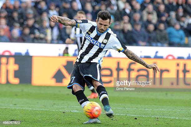 Cyril Thereau of Udinese Calcioin action during the Serie A match between Udinese Calcio and UC Sampdoria at Stadio Friuli on November 22 2015 in...
