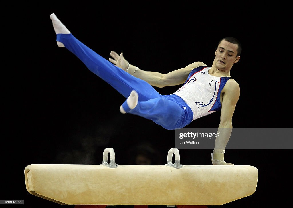 Cyril Tommasone of France in action on the Pommel Horse during the 3rd day of the Men's Gymnastics Final at North Greenwich Arena on January 12, 2012 in London, England.