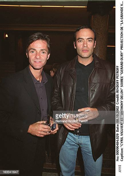 Cyril Viguier and 'Anthony Delon' 'Gerard Oury' film screening of 'La Grande Vadrouille' at the Garnier opera