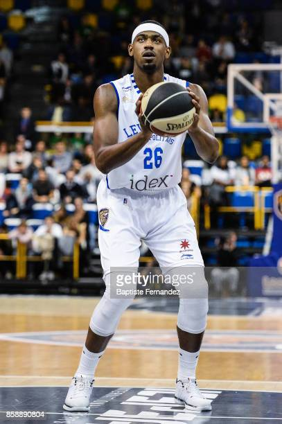 Cyrille Eliezer Vanerot of Levallois during the Pro A match between Levallois and Limoges on October 7 2017 in LevalloisPerret France