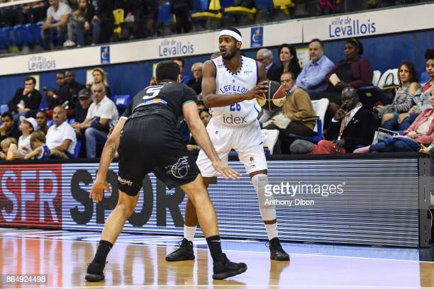Cyrille Eliezer Vanerot of Levallois during the Pro A match between Levallois Metropolitans and Boulazac at Salle Marcel Cerdan on October 21 2017 in...