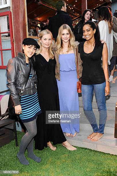 Cyrina Fiallo Katie Parfet Julianna Guill and Azie Tesfai attend TOMS and the Windish Agency private preparty for TOMS One Day Without Shoes at TOMS...