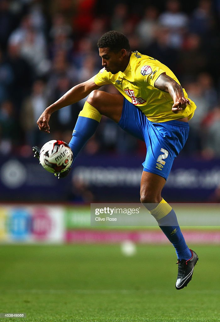 <a gi-track='captionPersonalityLinkClicked' href=/galleries/search?phrase=Cyrus+Christie&family=editorial&specificpeople=8534118 ng-click='$event.stopPropagation()'>Cyrus Christie</a> of Derby County controls the ball during the Sky Bet Championship match between Charlton Athletic and Derby County at The Valley on August 19, 2014 in London, England.