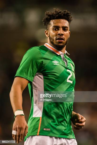 Cyrus Christie of Irelandduring the friendly match between Ireland and Iceland on March 28 2017 at the Aviva stadium in Dublin Ireland