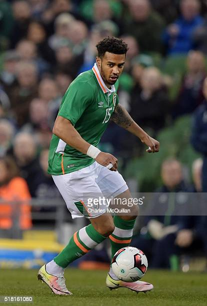 Cyrus Christie of the Republic of Ireland during the international friendly match between the Republic of Ireland and Slovakia at Aviva Stadium on...