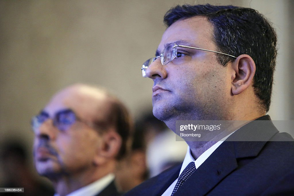 <a gi-track='captionPersonalityLinkClicked' href=/galleries/search?phrase=Cyrus+Mistry&family=editorial&specificpeople=8705051 ng-click='$event.stopPropagation()'>Cyrus Mistry</a>, chairman of Tata Group, right, and billionaire Adi Godrej, chairman of the Godrej Group, attend the launch of India@75: Call To Action in Mumbai, India, on Thursday, Nov. 14, 2013. Tata Group is India's biggest business group. Photographer: Dhiraj Singh/Bloomberg via Getty Images