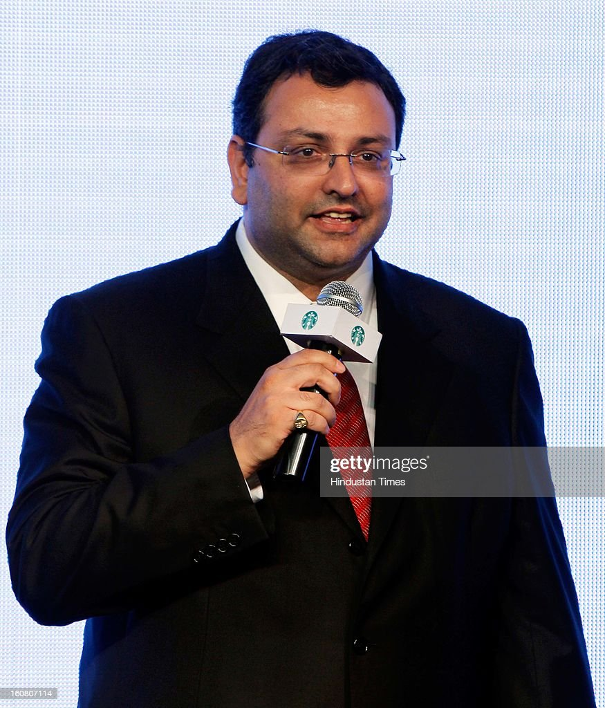 Cyrus Mistry, Chairman, Tata Sons during the launch of Starbucks Coffee 'A Tata Alliance' coffee shop on February 6, 2013 in New Delhi, India. Tata Starbucks Ltd. is a fifty/fifty joint venture company, owned by Starbucks Corporation and Tata Global Beverages, that owns and operates Starbucks outlets in India.