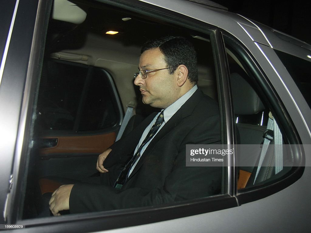 Cyrus Pallonji Mistry, Chairman of India's leading business conglomerate, Tata Group, leaves Udyog Bhawan after meeting with Anand Sharma, Union Minister for Commerce, Industry & Textiles, on January 17, 2013 in New Delhi, India.