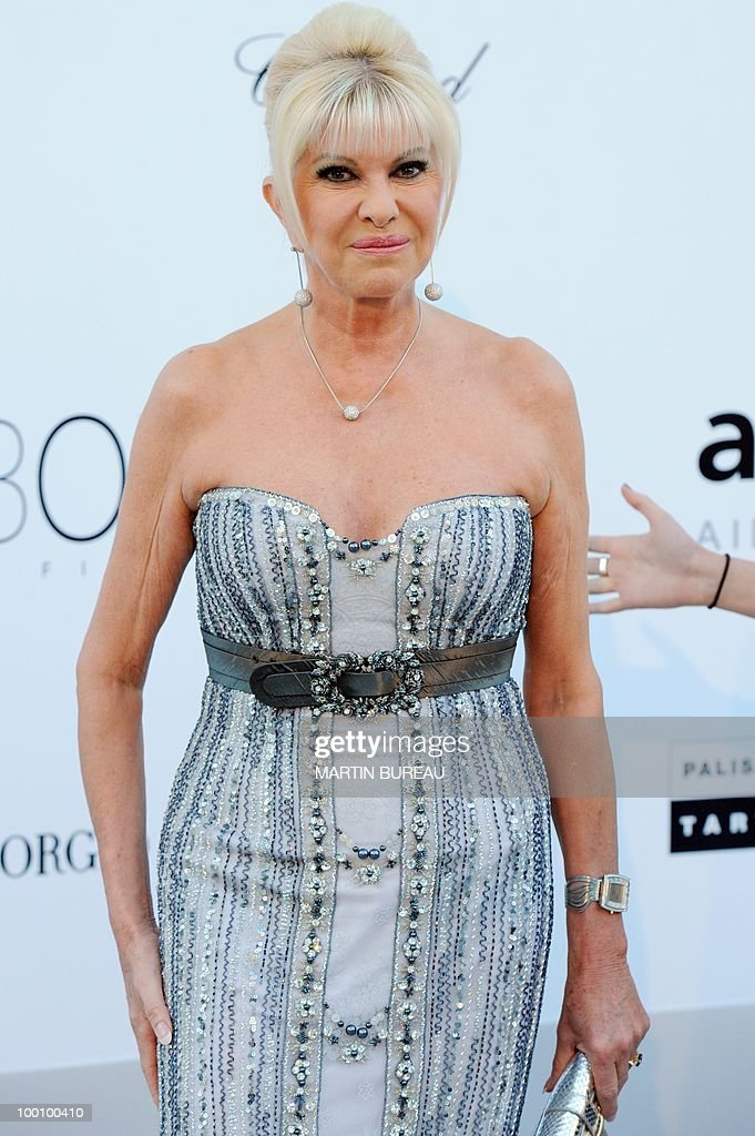 Czech born Ivana Trump arrives at amfAR's Cinema Against Aids 2010 benefit gala on May 20, 2010 in Antibes, southeastern France.