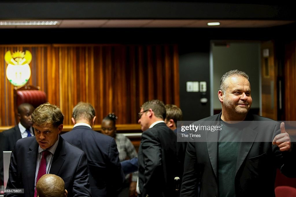 Czech bunsinessman, Radovan Krejcir, at the Palm Ridge Magistrate's Court on December 2, 2013, in Johannesburg, South Africa. Krejcir is allegedly the head of an international drug-smuggling syndicate. He is also accused of kidnapping and assault.
