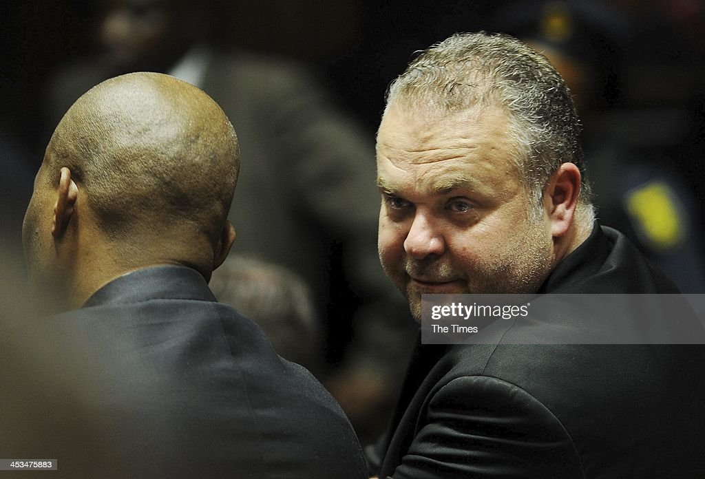 Czech businessman, Radovan Krejcir, at the Palm Ridge Magistrate's Court on December 2, 2013, in Johannesburg, South Africa. Krejcir is allegedly the head of an international drug-smuggling syndicate. He is also accused of kidnapping and assault.