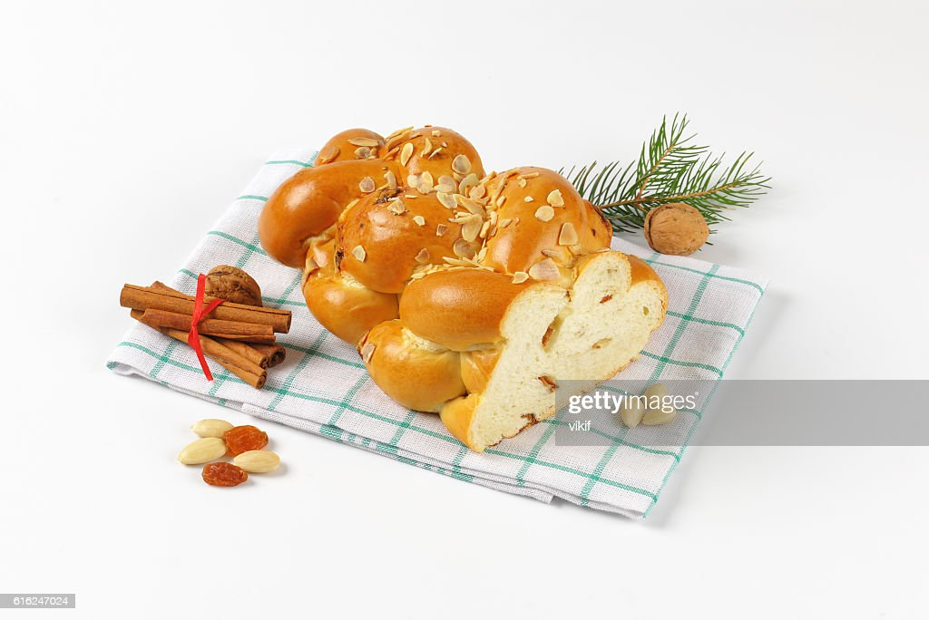 Czech Christmas braided bread : Foto de stock