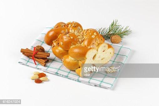 Czech Christmas braided bread : Foto de stock