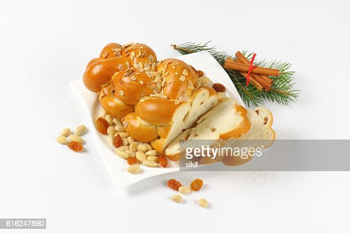 Czech Christmas braided bread : Foto stock