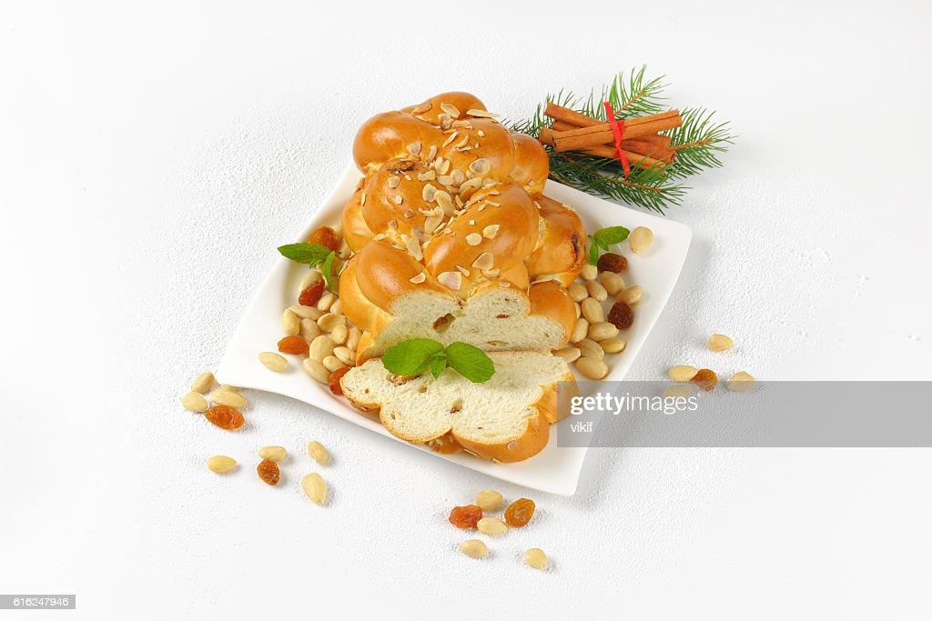 Czech Christmas braided bread : Stock-Foto