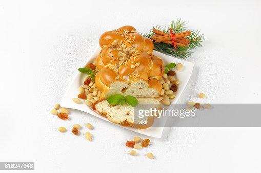 Czech Christmas braided bread : Stock Photo
