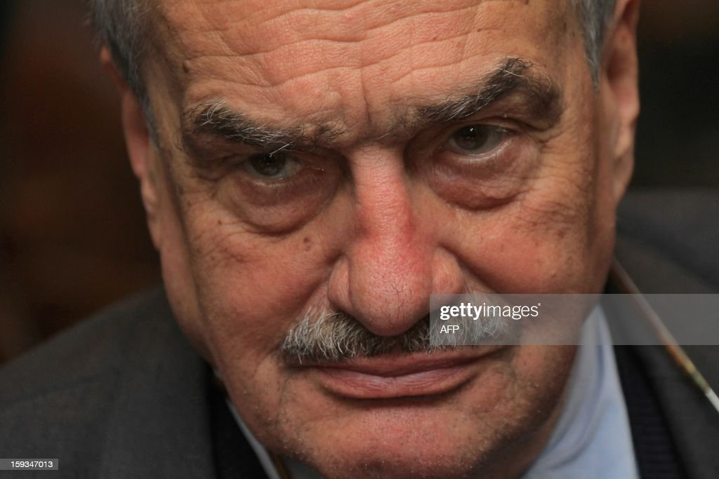 Czech Foreign Minister Karel Schwarzenberg looks on as he waits for the results of the presidential elections in Prague, on January 12, 2013.The pipe-smoking Schwarzenberg, chairman of the right-wing governing coalition TOP 09 party, has promised to quit his party if elected president.AFP PHOTO / RADEK MICA