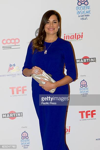 Czech model Alena Seredova takes part to charity dinner during Torino Film Festival