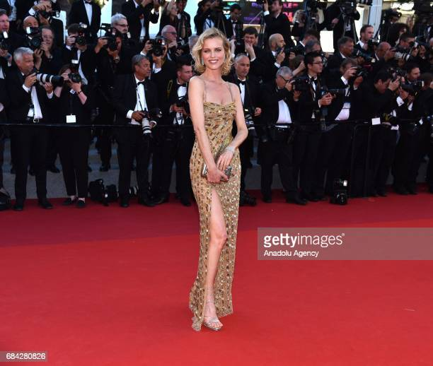 Czech model Eva Herzigova arrives for the screening of the film 'Les Fantomes dIsmael' out of competition and the Opening Ceremony of the 70th annual...