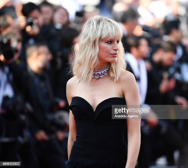 Czech model Karolina Kurkova arrives for the screening of the film D'apres Une Histoire Vraie out of competition at the 70th annual Cannes Film...