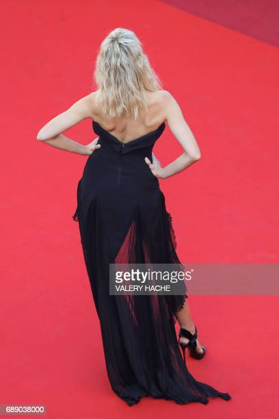 Czech model Karolina Kurkova poses as she arrives on May 27 2017 for the screening of the film 'Based on a True Story' at the 70th edition of the...