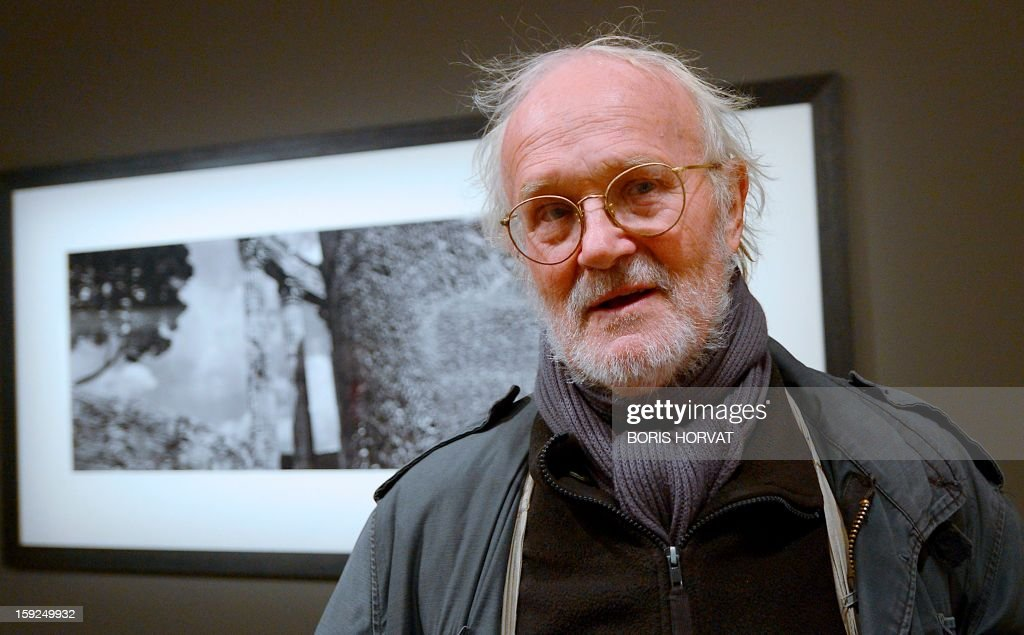 Czech photographer, Josef Koudelka poses as he presents his exhibition 'Vestiges' at 'La vieille charité' on January 10, 2013 in Marseille, one of numerous exhibitions opening in Marseille in relation to the city being named 2013 European capital of culture. On January 12, the city will be named capital of culture which will kick off a range of exhibitions and events.