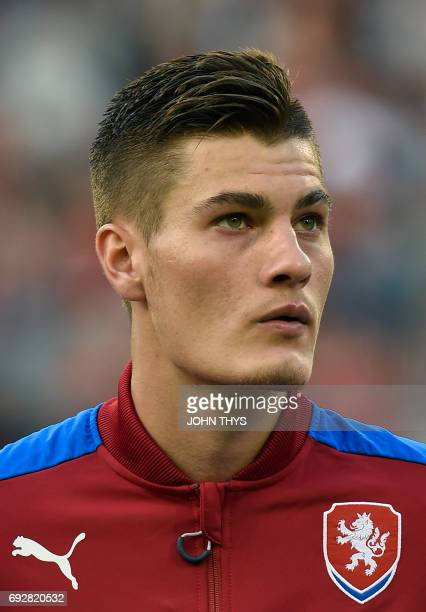 Czech player Patrik Schick poses during the friendly football match between Belgium and Czech Republic at the King Baudouin Stadium on June 5 2017 in...