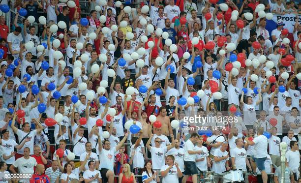 Czech Republic fans during the UEFA European Under21 Championship Group C match between Czech Republic and Denmark at Tychy Stadium on June 24 2017...