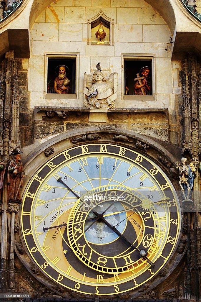 Czech Republic. Prague, Astronomical clock : Stock Photo