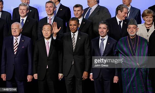 Czech Republic President Vaclav Klaus UN Secretary General Ban Kimoon US President Barack Obama NATO Secretary General Anders Fogh Rasmussen Afghan...