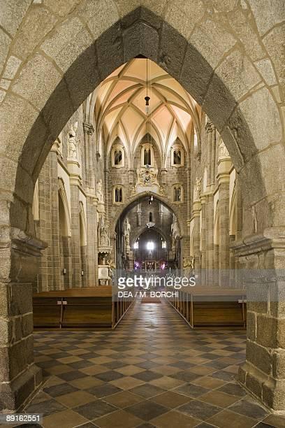 Czech Republic Southern Moravia Trebc St Procopius's Church UNESCO World Heritage List 2003 Central aisle