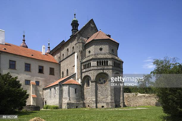Czech Republic Southern Moravia Trebc St Procopius's Church UNESCO World Heritage List 2003 Romanesque apse