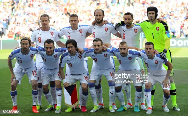 A Czech Republic team group photo Back row David Limbersky Pavel Kaderabek Roman Hubnik Tomas Sivok goalkeeper Petr Cech Front row Czech Republic's...